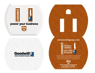 2012. Horizon Goodwill asked the team at Icon Graphics to come up with several enticing marketing concepts. I came up with the concept of powering your business with Goodwill, using a plug for a metaphor. I wrote the copy, as well. This project hasn't moved forward, so it remains in this conceptual stage.